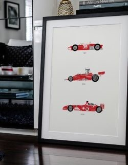 Ferrari F1 Car Poster Art Print - Rear View Prints