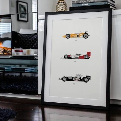 McLaren F1 Car Poster Art Print - Rear View Prints