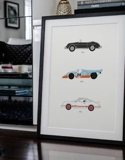 Porsche F1 Car Poster Art Print - Rear View Prints