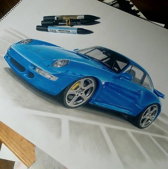 Car Design Elegant Vehicles and Design - Rear View Prints