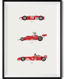 Ferrari Car Print - Rear View Prints
