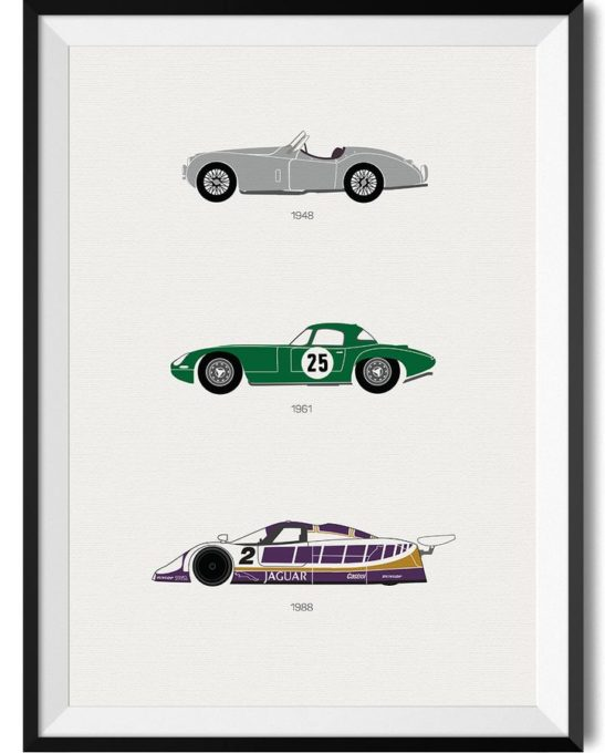 Jaguar Car Print - Rear View Prints