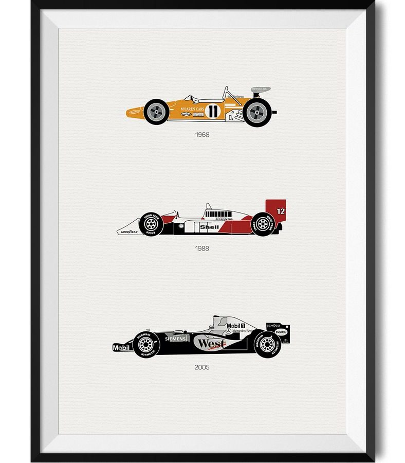 McLaren Car Print - Rear View Prints