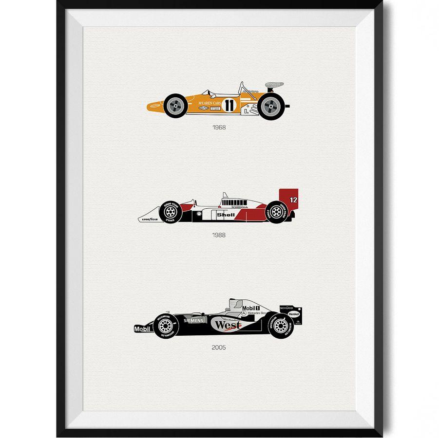 McLaren F1 Car Print Art Poster • Rear View Prints