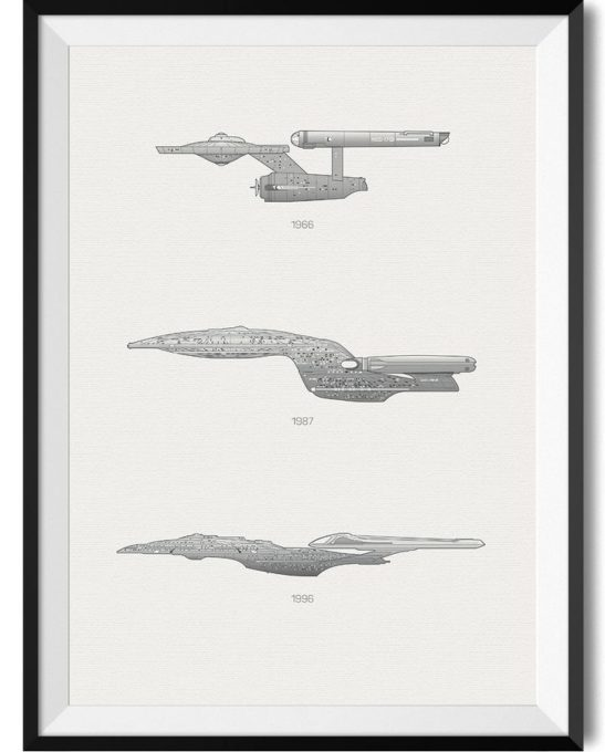 Star Trek Spaceship Print - Rear View Prints