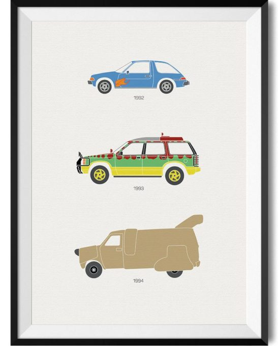 90's Moive Car Print