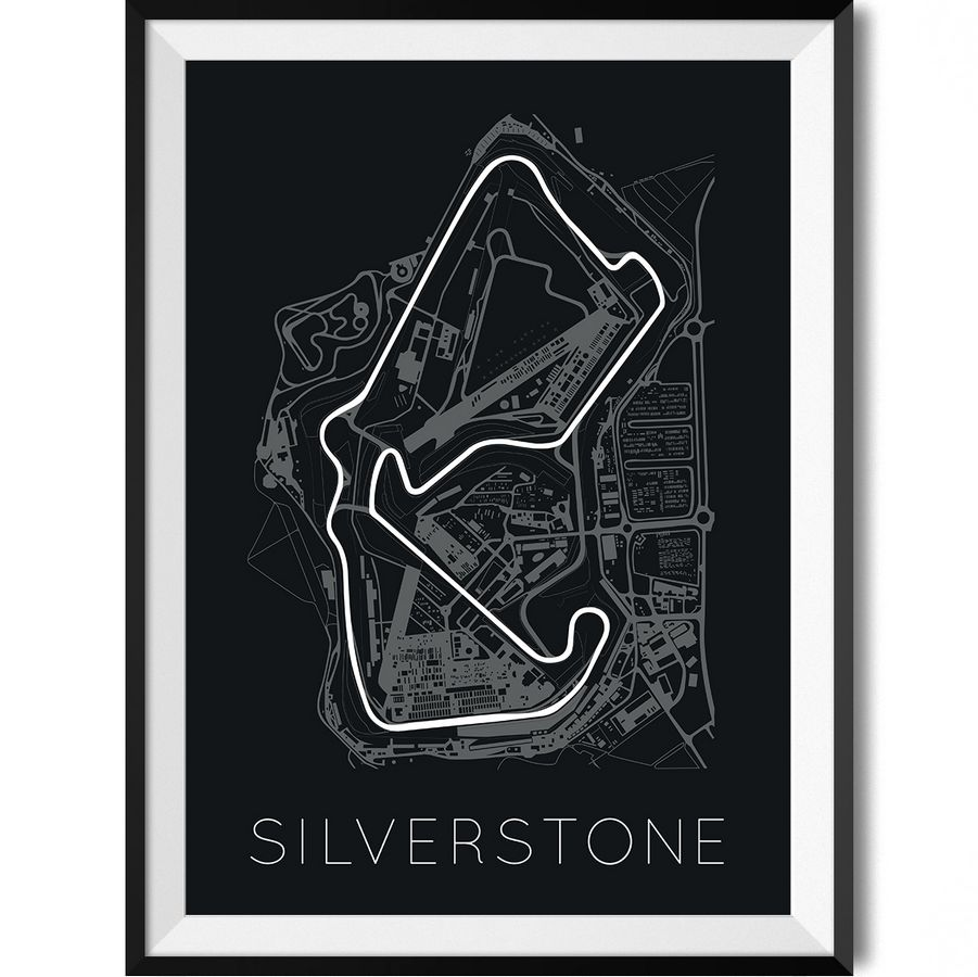 The silverstone circuit f1 track art posters prints rear view prints f1 silverstone print malvernweather Images