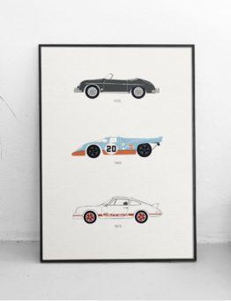 Porsche Car Print WhiteWall Lifestyle – Rear View Prints