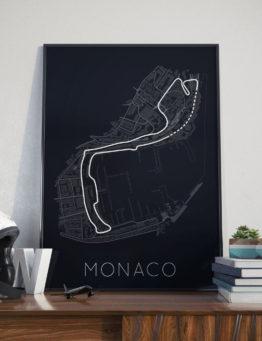 Monaco Print 1 White Helmet Lifestyle – Rear View Prints