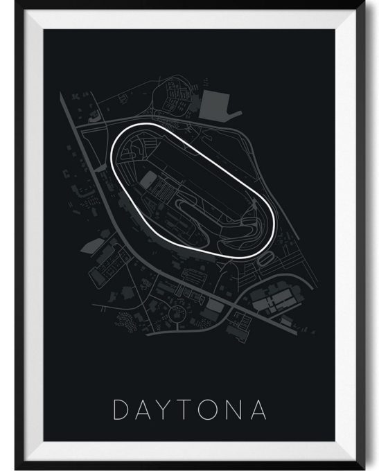 Daytona Race Track Print Poster - Rear View Prints