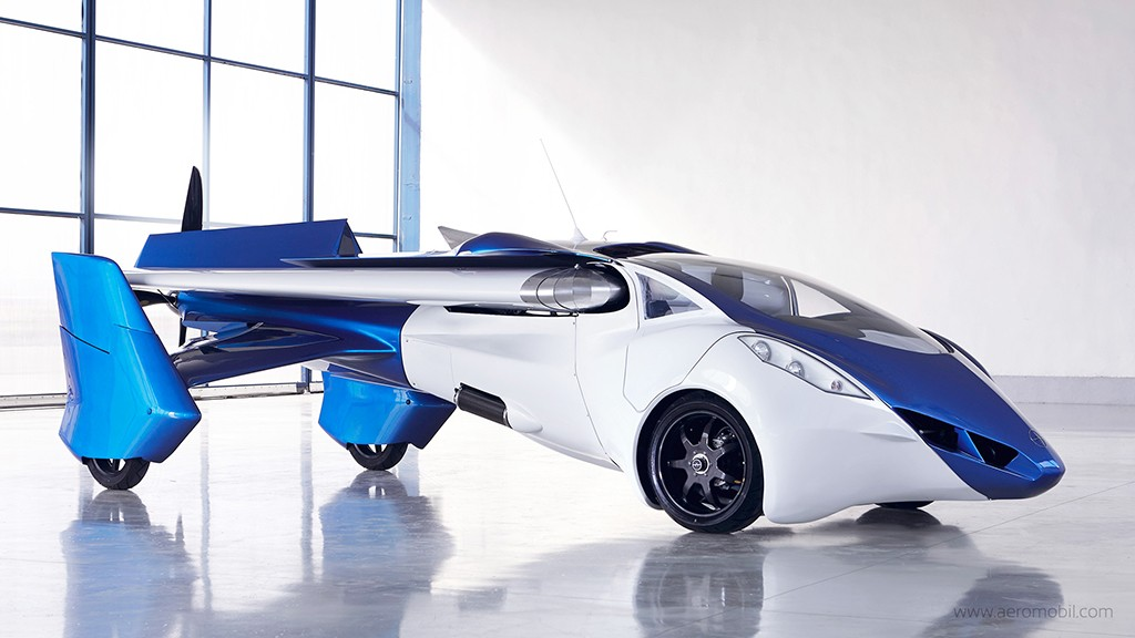Flying Car - Rear View Prints