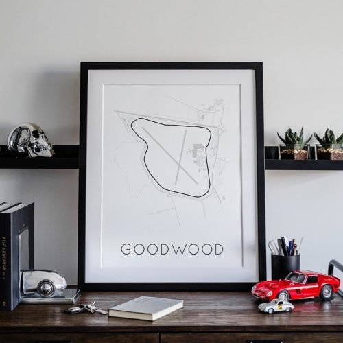 Goodwood Circuit Track Poster F1 Art Print - Rear View Prints