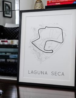 Laguna Seca Track Poster F1 Art Print - Rear View Prints