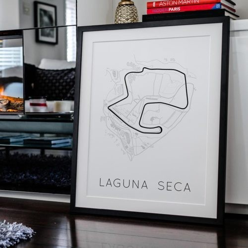 Laguna Seca Track Poster F1 Art Print - Rear View Prints
