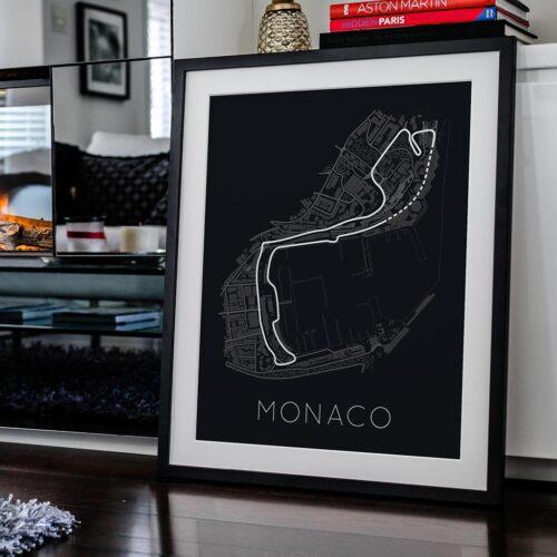 Circuit De Monaco Track Poster F1 Art Print - Rear View Prints
