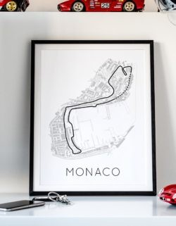 Circuit De Monaco Track Poster F1 Art Print - Rear View Prints