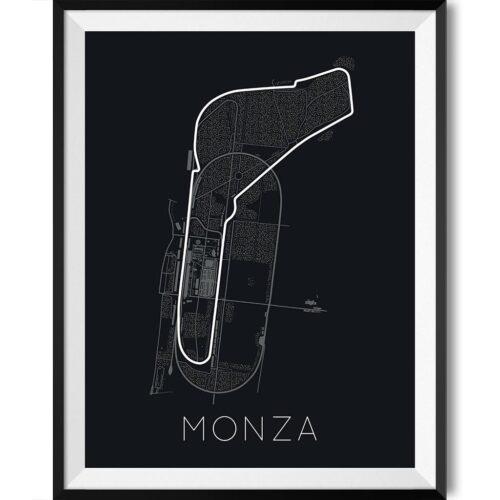 Monza F1 Track Poster Art Print - Rear View Prints