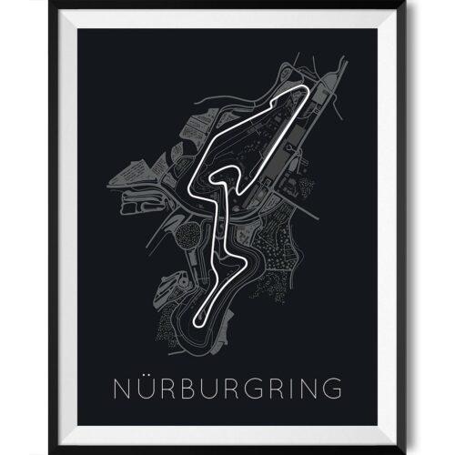 Nürburgring F1 Track Poster Art Print - Rear View Prints
