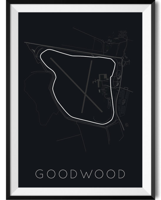 Goodwood Track Print WBoarder Frame 1 - Rear View Prints