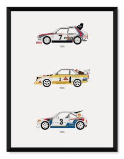Rally Group B Car Poster Art Print - Rear View Prints