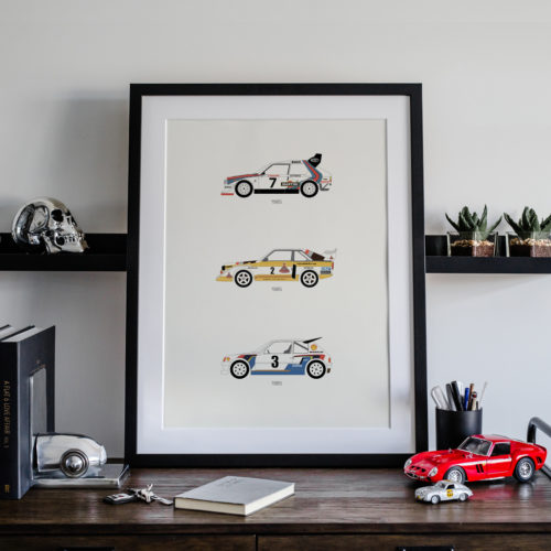 Rally B Car Art Car Print Car Poster F1 Poster Automotive Art - Rear View Prints