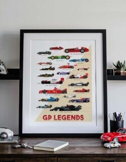 Formula 1 Legends Champions Poster Art Print - Rear View Prints