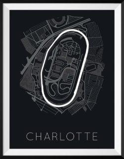 Charlotte Motor Speedway Track Poster F1 Art Print - Rear View Prints