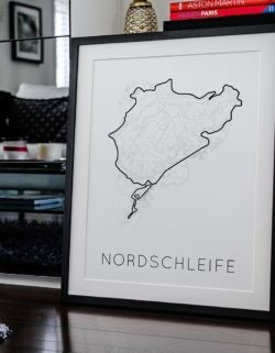 Nordschleife F1 Track Poster Art Print - Rear View Prints