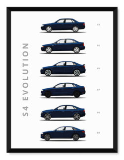 Audi s4 - Car Poster - Art Print - Rear View Prints