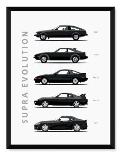 Toyota Supra - Car Poster - Art Print - Rear View Prints