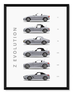 BMW Z - Car Poster - Art Print - Rear View Prints
