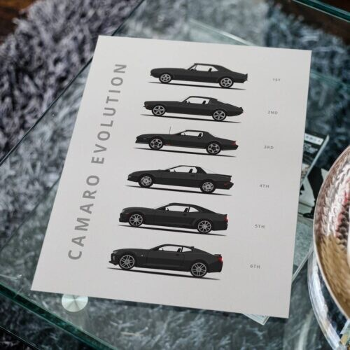 Chevy Camaro - Car Poster - Art Print - Rear View Prints