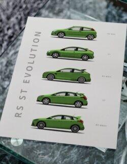 Ford Focus RS - Car Poster - Art Print - Rear View Prints