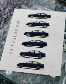 Audi s4 - Car Poster - Art Print - Rear View Prints