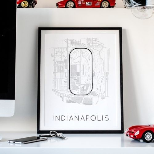 Indianapolis Track Poster F1 Art Print - Rear View Prints