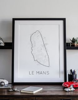 Le Mans Track Poster F1 Art Print - Rear View Prints