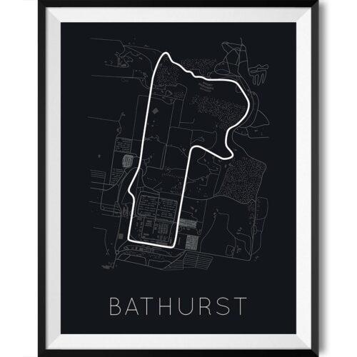 Bathurst Track Poster F1 Art Print - Rear View Prints