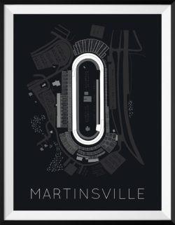Martinsville Track Poster F1 Art Print - Rear View Prints