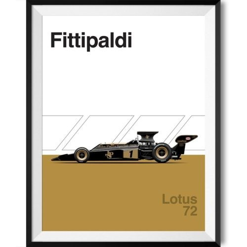 Lotus 72 F1 Poster Car Art Print - Rear View Prints