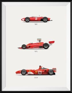 Ferrari F56 312T F2004 Poster F1 Car Poster Art Print Rear View Prints