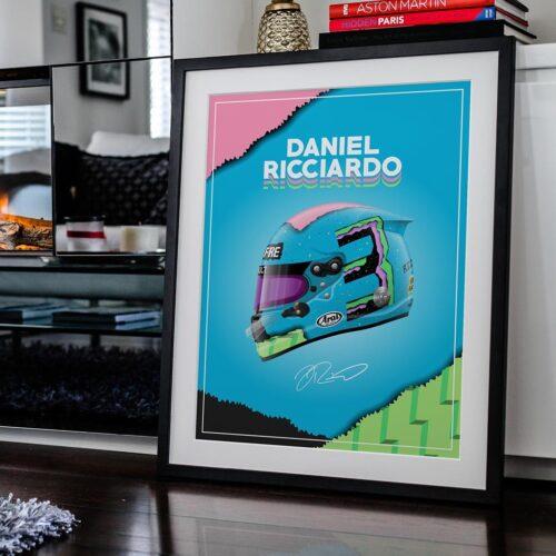 Daniel Ricciardo Helmet F1 Poster Art Print - Rear View Prints