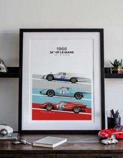 24 Hours of Le Mans Poster Art Print - Rear View Prints