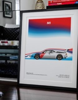 BMW M1 Procar Motorsport Poster Art Print - Rear View Prints