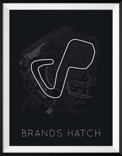 Brands Hatch Track Poster F1 Art Print - Rear View Prints