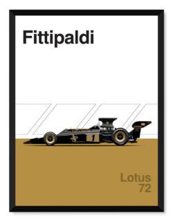Lotus 72 F1 Poster Car Art Print - Rear View Prints