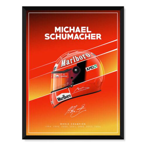 Michael Schumacher Helmet Poster F1 Art Print - Rear View Prints