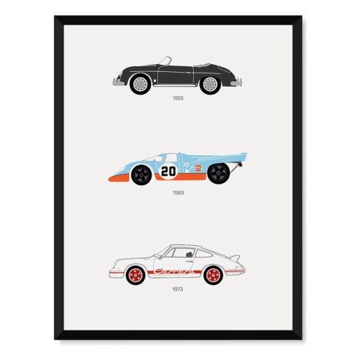 Porsche F1 Car Poster Art Print - Rear View Prints