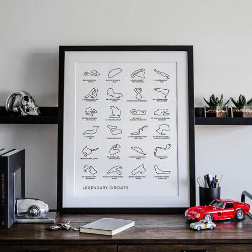 Formula 1 Legendary Circuits Poster • Art Print - Rear View Prints