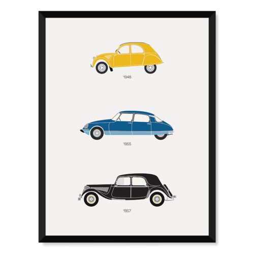 Citroen - Car Poster - Art Print - Rear View Prints