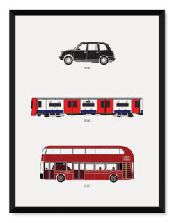 London Transport Print Art Poster - Rear View Prints